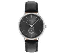 Armbanduhr, Leder, Edelstahl, analog
