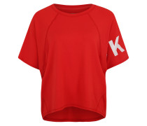 T-Shirt, Oversized, Raglanärmel, Print