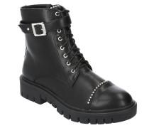 Boots, Nieten, Zierschnalle, Profilsohle