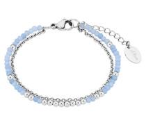 Armband mit Glassteinen 2018343 Edelstahl