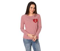 Langarmshirt, Brusttasche in Herzform, Streifen-Muster