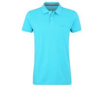 Poloshirt, Piqué, unifarben, Saum-Schlitze