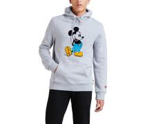 Hoodie, Mickey Mouse Print, Baumwoll-MIx