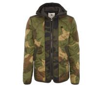 """Jacke """"Edla padded RC Overshirt"""", Kapuze, Camouflage, Eingrifftaschen"""