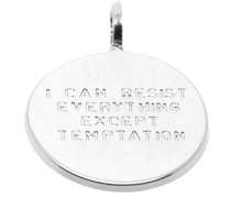 """""""I Can Resist Everything Execpt Temptation"""" Medaille Anhänger PME-02.S"""