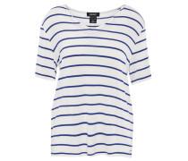 T-Shirt, V-Ausschnitt, lockerer Schnitt, Streifen