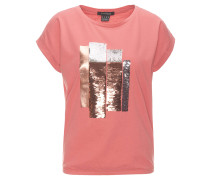 T-Shirt, Wendepailletten, Ärmel umgeschlagen