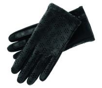 Handschuhe, echtes Leder, Lochmuster