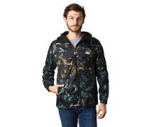 Jacke, tropischer Print, Quicklace-Bund, Streifen-Detail