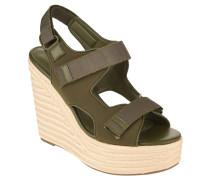 Sandaletten, Klettverschluss, Bast-Optik