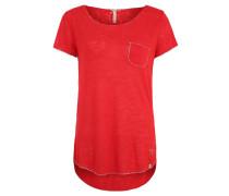 "T-Shirt ""Dublin"", Flammgarn, Glitzer-Details, Brusttasche"