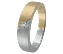 Solitär Ring Platin 950/Gold 750 mit Diamant, zus. ca. 0