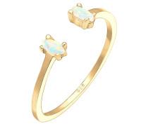 Ring Oval Geo Opal Offen Verstellbar 925 Silber Beau