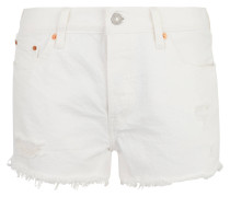 "Jeans-Shorts ""501"", Straight Leg, Used-Look, Baumwolle"