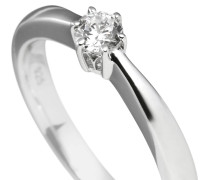 Ring, Sterling  925, -Zirkonia, 0,25 ct