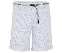 Shorts mit Gürtel, Baumwolle, Print