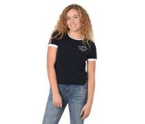 T-Shirt, Ärmelaufschlag, Logo-Stickerei, Logo-Print