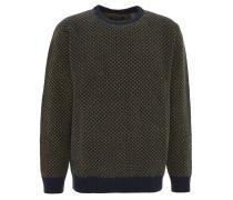Pullover, Wolle, geometrische Musterung, Rundhals