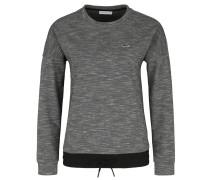 Sweatshirt, Label-Logo, Saum mit Tunnelzug