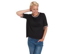 T-Shirt, Häkelspitze, College-Stil