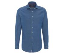 Businesshemd, Slim Fit, Kent-Kragen, Jeans