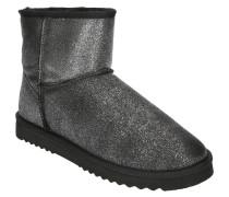Boots, Metallic-Optik, Glitzer, Warmfutter