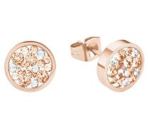 Damen-Ohrringe mit Swarovski® Kristallen IP ROSE