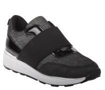 Sneaker, Glitzer, Lack-Elemente