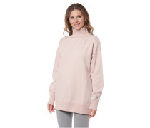 Sweatshirt, Baumwolle, Rollkragen