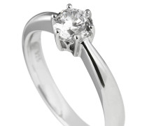 Ring, Sterling  925, -Zirkonia, 0,75 ct