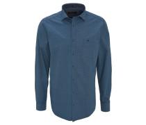 Freizeithemd, Comfort Fit, geometrisches Design, Kent-Kragen