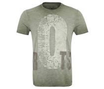 T-Shirt, Baumwolle, Used-Optik, Print, Flammgarn