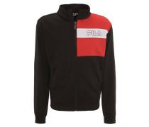Track Jacket, Blockfarben, Logo-Print