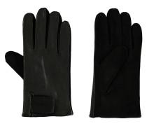 Lederhandschuhe, Materialmix, Klettverschluss