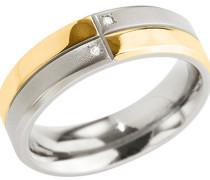 Diamant-Ring Titan 0101-275, 2 Diamanten, zus. 0