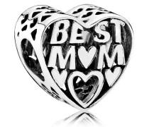 Charm, Herz, Inschrift, Best Mom, 791882