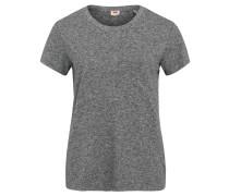 T-Shirt, meliert, aufgesetzte Brusttasche
