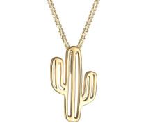 Halskette Kaktus Wüste Boho Trend Symbol Anhänger 925 Silber