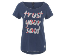 "T-Shirt ""Trust"", Pailletten, Glitzer-Saum"