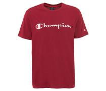 T-Shirt, reine Baumwolle, Marken-Print, Rundhals