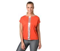 T-Shirt, überschnittene Schulter, Metallic-Print