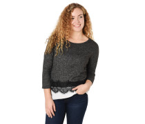 Shirt, 3/4-Arm, Spitzen-Besatz