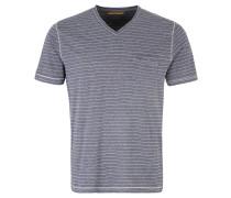 T-Shirt, Baumwolle, Streifen, Brusttasche