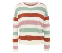 Pullover, Streifen, Glitzer-Effekte, Marken-Anhänger