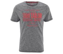 T-Shirt, Baumwolle, Front-Print, meliert