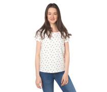 T-Shirt, Baumwolle, Allover-Print, Rundhalsausschnitt