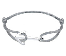 Armband Anker Maritim Satinband 925 Sterling