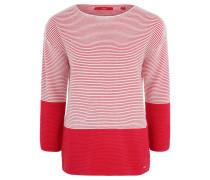 Pullover, Strickstruktur, Colour-Blocking, gestreift