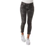 Jeans, Super Skinny, Leoparden-Muster, Baumwoll-Stretch