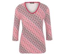 Shirt, 3/4-Arm, Allover-Print, V-Ausschnitt